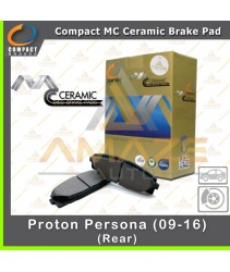 Compact MC Ceramic Brake Pad for Proton Persona (Rear) (09 - 16)